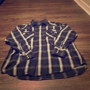 Lucky Brand western pearl snap button down